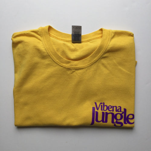 Vibena Jungle Yellow T-Shirt / Purple Logo *FREE UK POSTAGE*