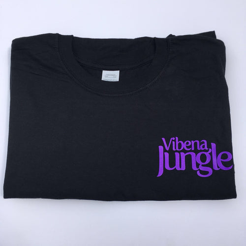 Vibena Jungle Black T-Shirt / Purple Logo
