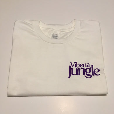 Vibena Jungle White T-Shirt / Purple Logo