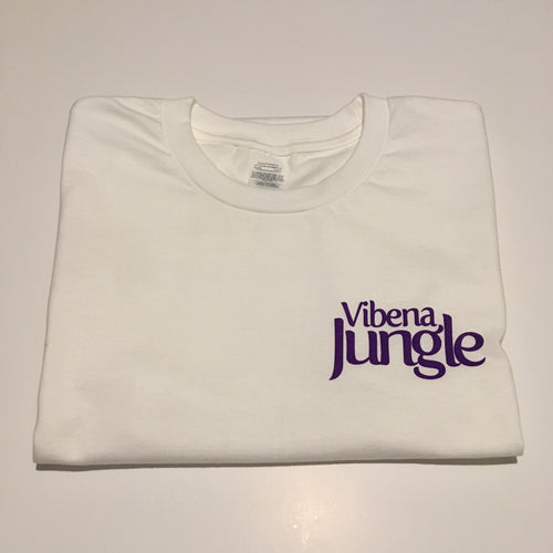 Vibena Jungle White T-Shirt / Purple Logo *FREE UK POSTAGE*