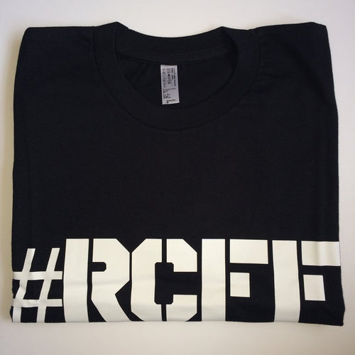 #RCFF Black T-Shirt / White Logo