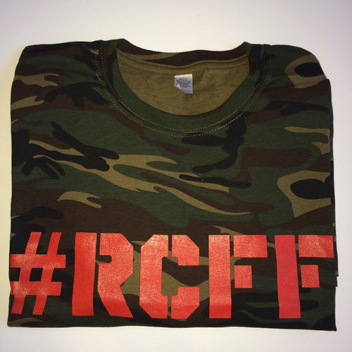 #RCFF Camo T-Shirt / Red Logo *FREE UK POSTAGE*