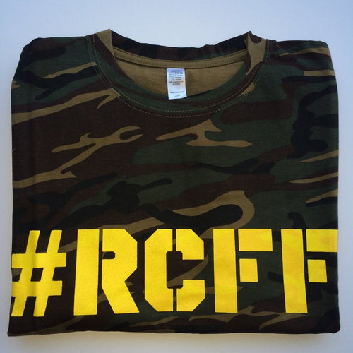 #RCFF Camo T-Shirt / Yellow Logo