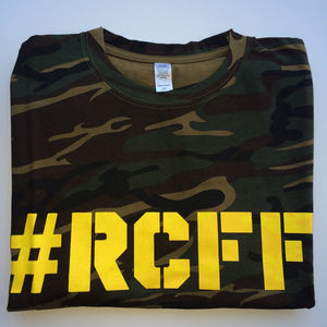 #RCFF Camo T-Shirt / Yellow Logo *FREE UK POSTAGE*