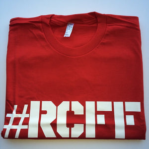 #RCFF Red T-Shirt / White Logo *FREE UK POSTAGE*