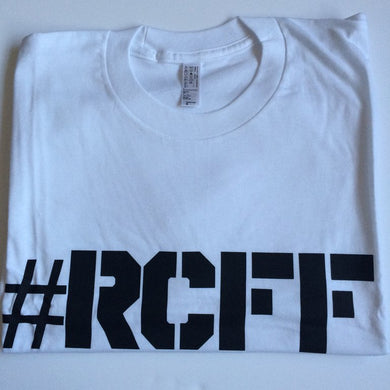 #RCFF White T-Shirt / Black Logo