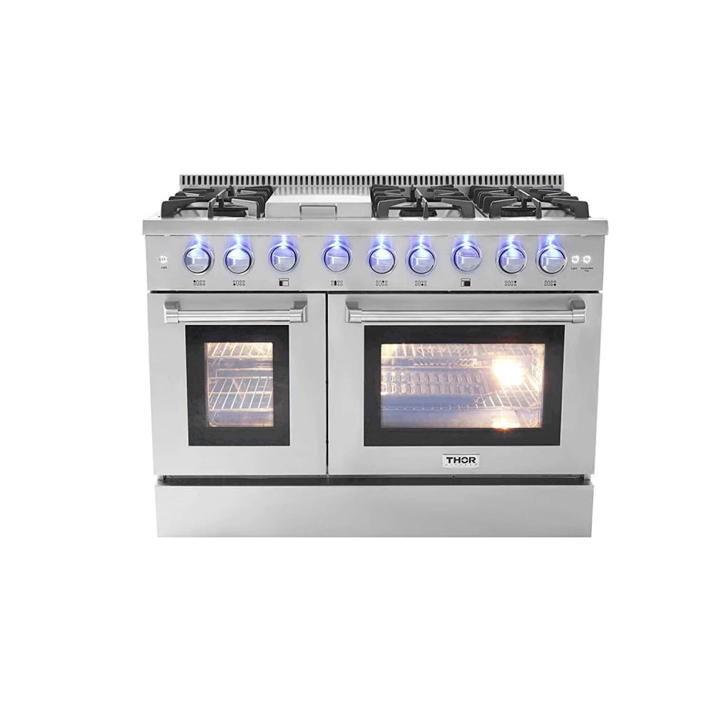 Thor Kitchen Hrd4803U 48 Inch Dual Fuel Double Oven | Thor 48 Dual Fuel Range