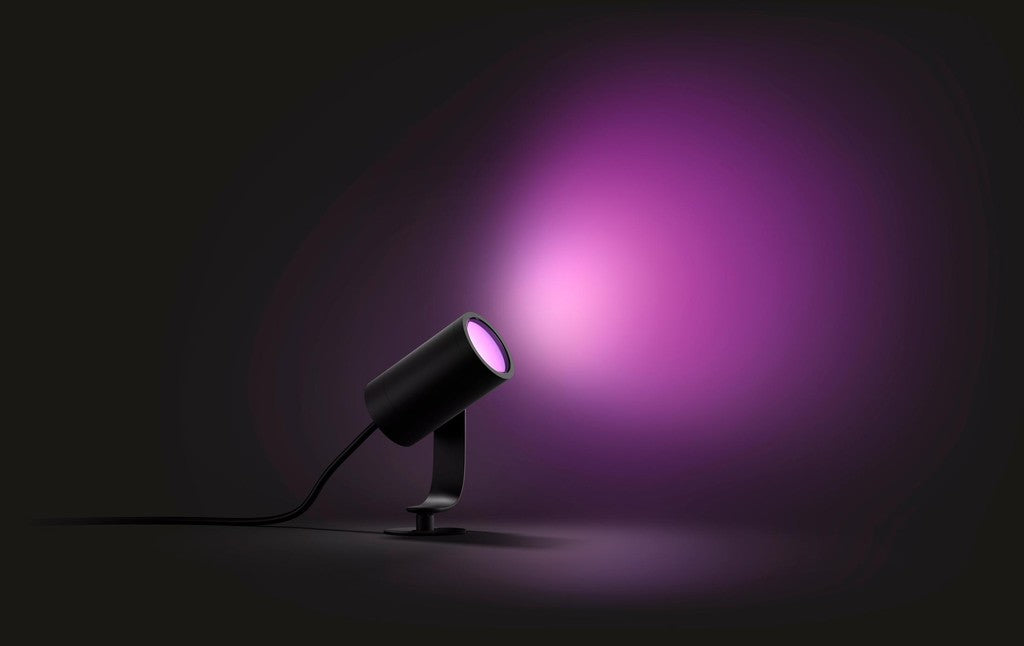 Philips Hue Outdoor Lampen.Philips Hue White And Color Outdoor Lily Spotlight Starter Set Black