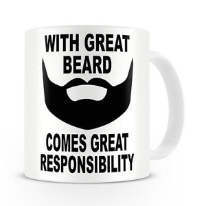 With Great Beard Comes Great Responsibility - Beard Mug