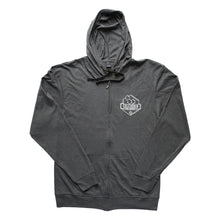Load image into Gallery viewer, Lightweight Zip Up Hoodie (Charcoal)