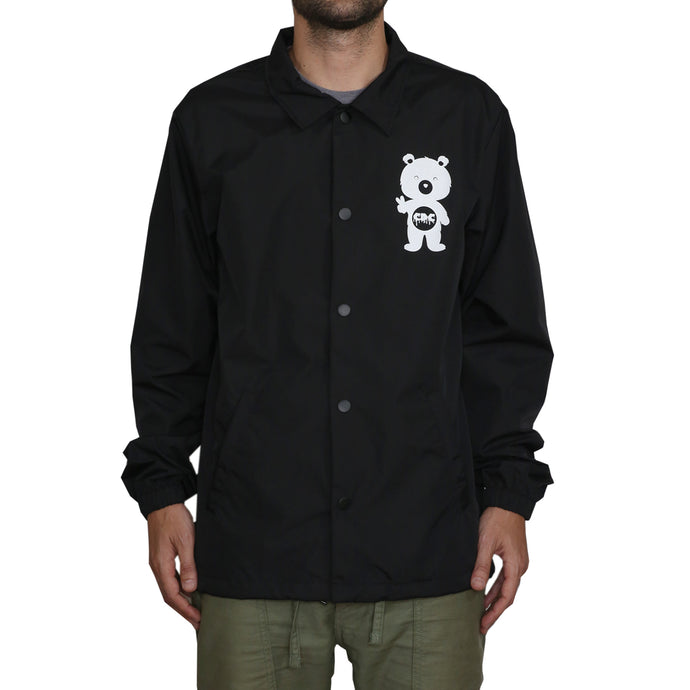 Button Up Windbreaker Jacket (Black)