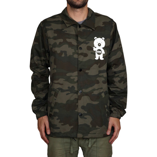 Button Up Windbreaker Jacket (Camo)