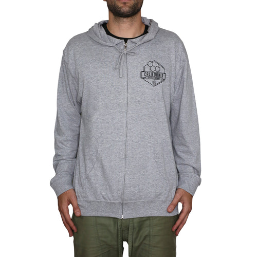 Lightweight Zip Up Hoodie (Ash Grey)