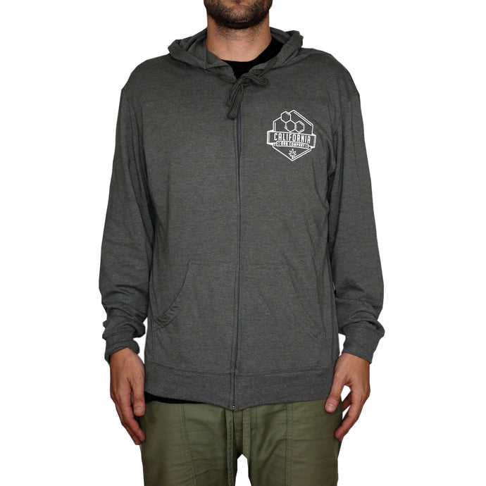 Lightweight Zip Up Hoodie (Charcoal)