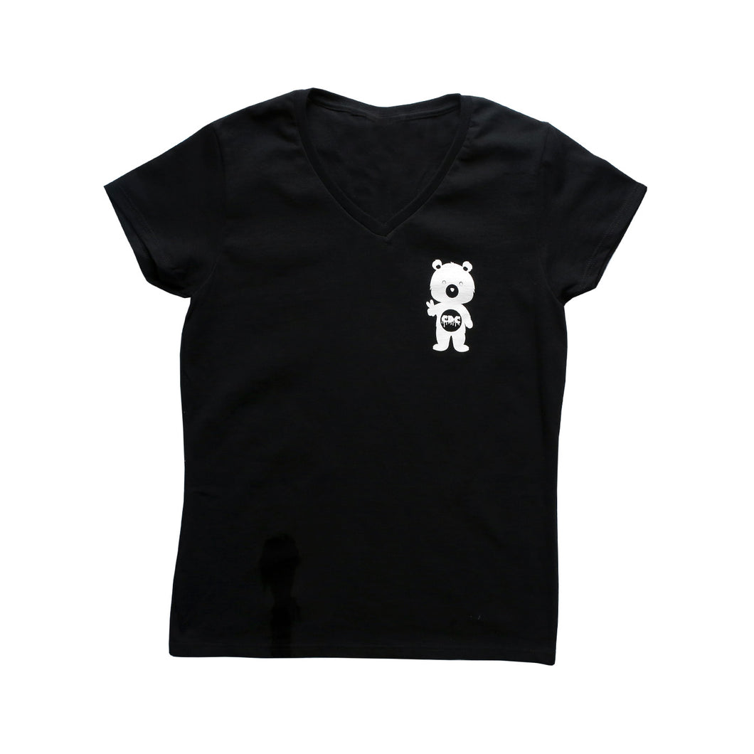 CA Dab Co Female V-Neck T-Shirt (Black)