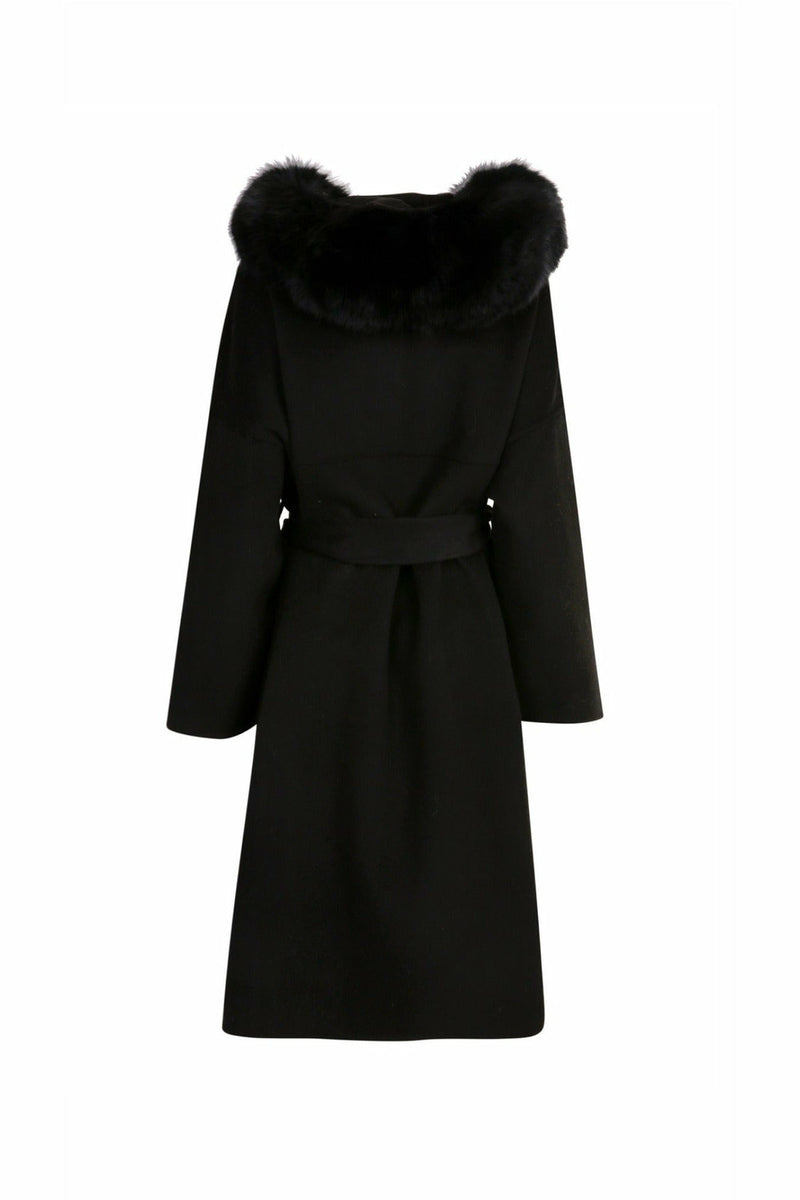 Louise Cashmere Coat Black Long