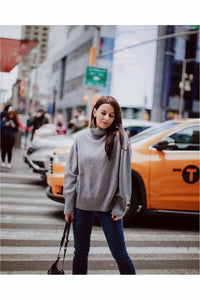 The Boyfriend Turtleneck London Grey