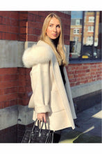 Load image into Gallery viewer, Louise Cashmere Blend Coat Cream White