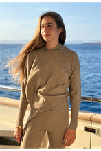 Load image into Gallery viewer, 100% Cashmere Hoodie in Nomad Beige