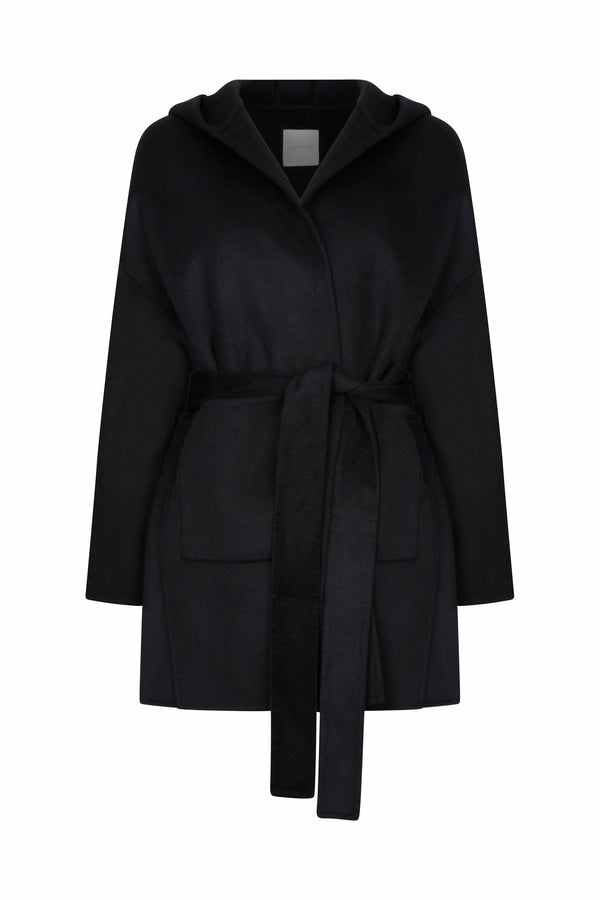 Furless Louise Cashmere Coat Black