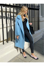 Load image into Gallery viewer, Melania Cashmere & Fox Fur Coat Babe Blue