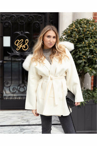 The Louise Cashmere Blend Coat Ivory