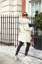 Load image into Gallery viewer, The Louise Cashmere Blend Coat Ivory
