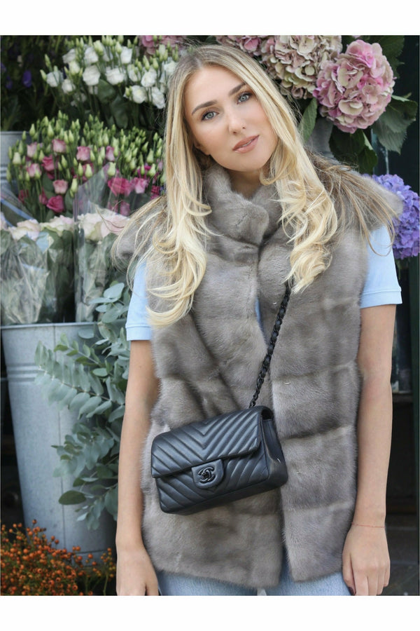 Alice Mink Gilet Grey