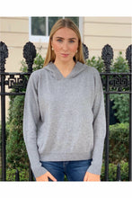 Load image into Gallery viewer, 100% Cashmere Hoodie in London Grey