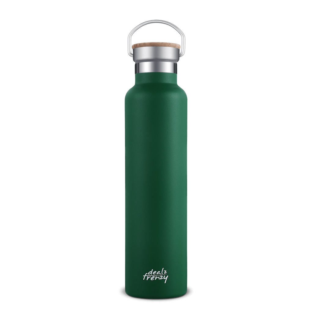 Copy of Double Wall Vacuum Stainless Steel Leak Proof Sports Water Bottle, Insulated Travel Water Bottle for Hot Beverages and Cold Drinks, Standard Mouth, Bamboo Cap, BPA Free, No Plastic