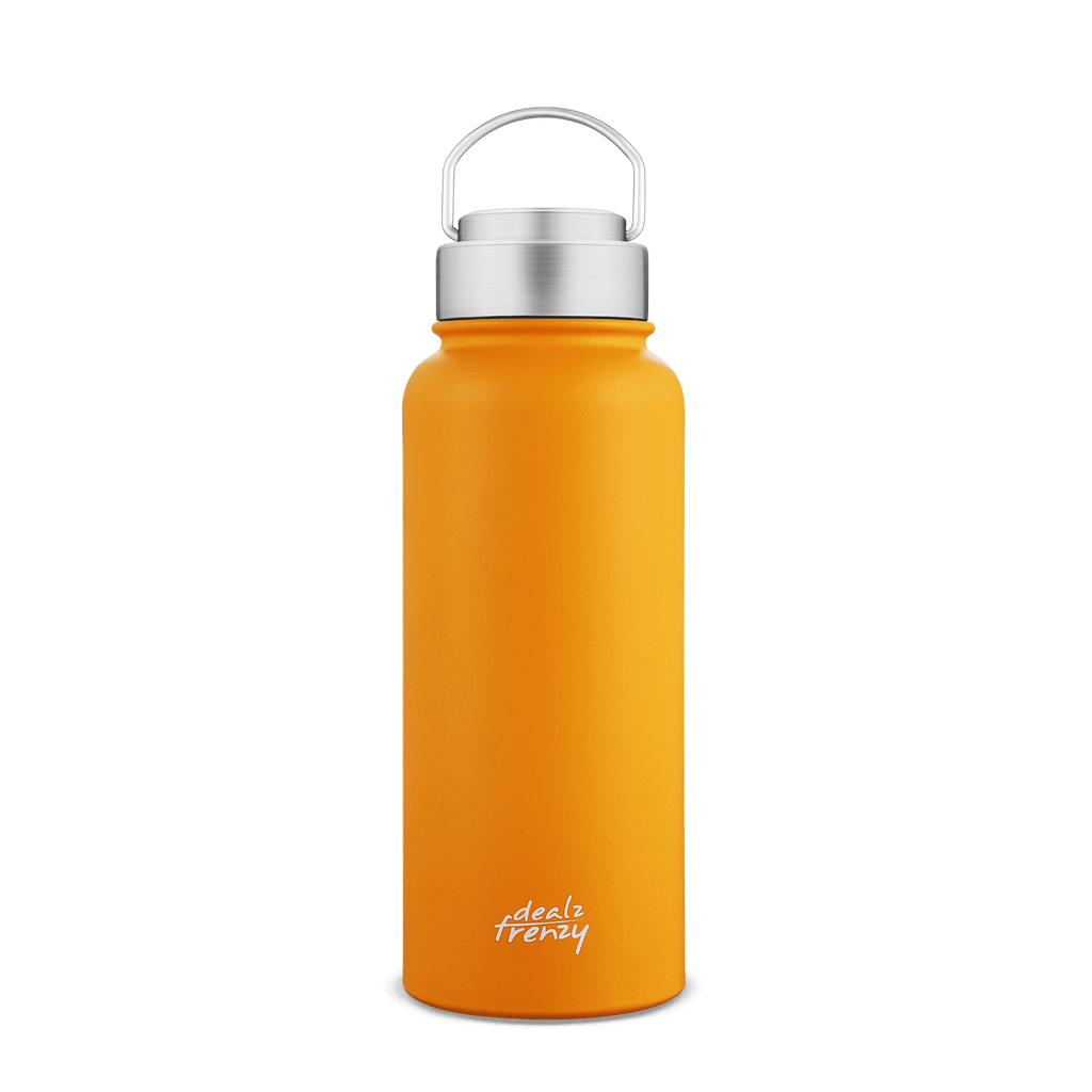 Double Walled Vacuum Insulated Stainless Steel Sports Water Bottle, BPA Free & No Plastic, Leak & Sweat Proof, Perfect for Gym, Road Trips, Beach, Golf Course