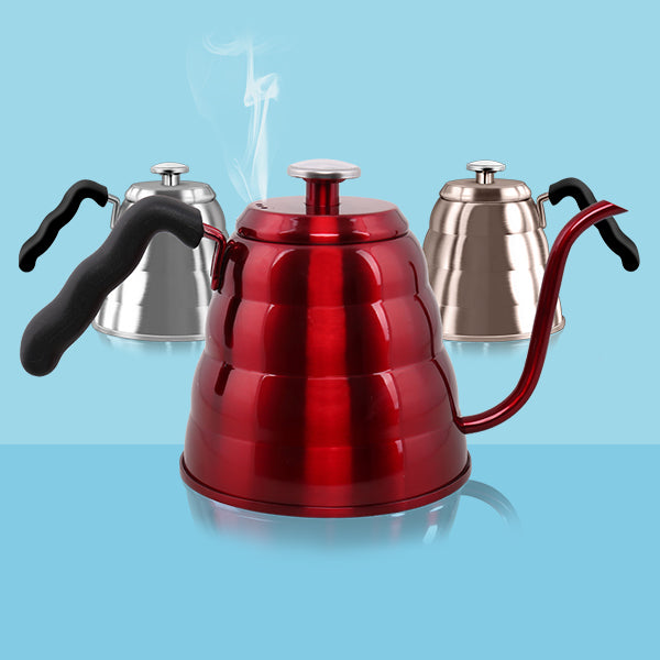 HOLDS 34/40 FLOZ Pour Over Gooseneck Kettles with Thermometer