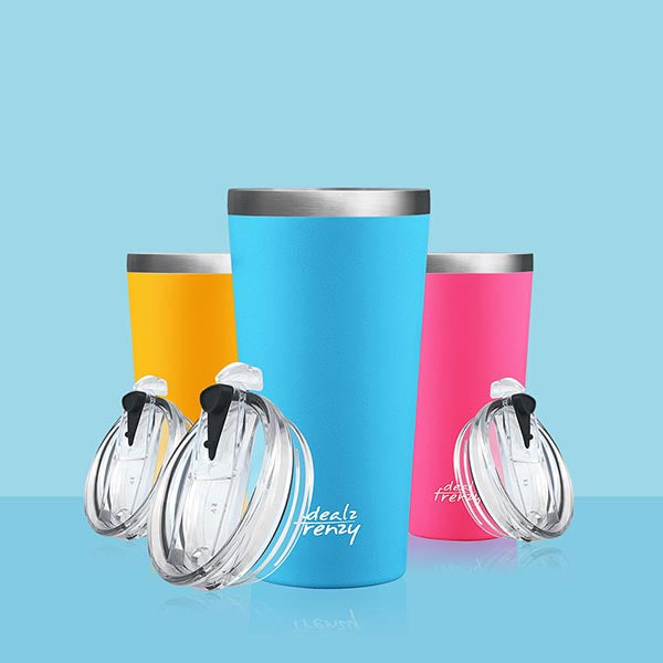 HOLDS 17 OZ Double Wall Vacuum Insulated Stainless Steel Travel Coffee Mug