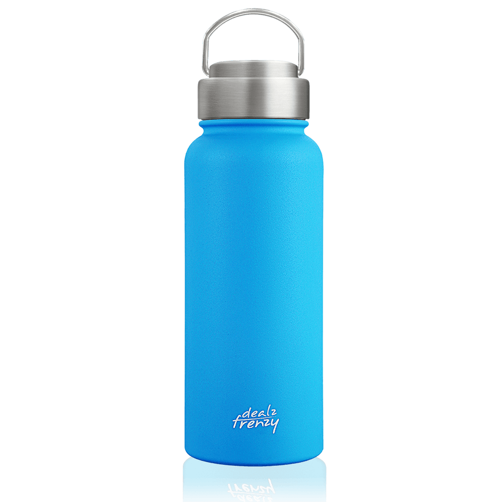 Dealz Frenzy Insulated Tumblers - CoffeeThermos Cups, Travel Mugs with Lid, Double Stainless Steel Wide Mouth Water Bottles 32/22 oz,BPA Free, FDA, No Sweat Thermo Flasks