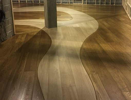 Coloured oils for wood flooring