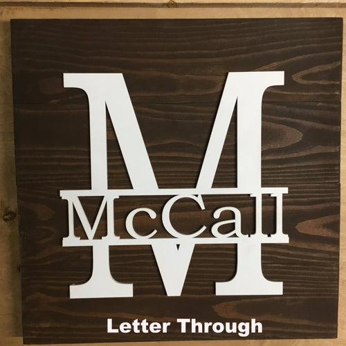 Monogram Sign Options - 1 x 6 4 Board - PC