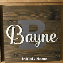 Load image into Gallery viewer, Monogram Sign Options - 1 x 6 4 Board - PC