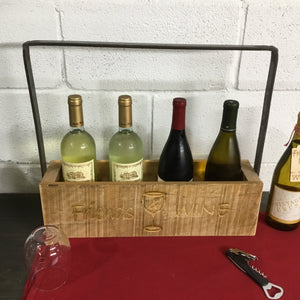 4 Bottle Rustic Wine Tote