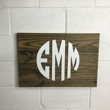 Load image into Gallery viewer, Monogram Sign Options - 1 x 6 3 Board