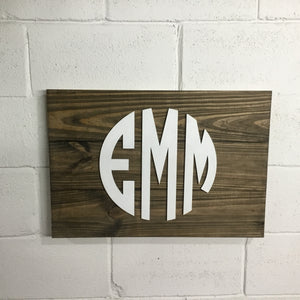 Monogram Sign Options - 1 x 6 3 Board