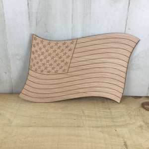 Waving Flag Door Hanger Blank - Local Pickup