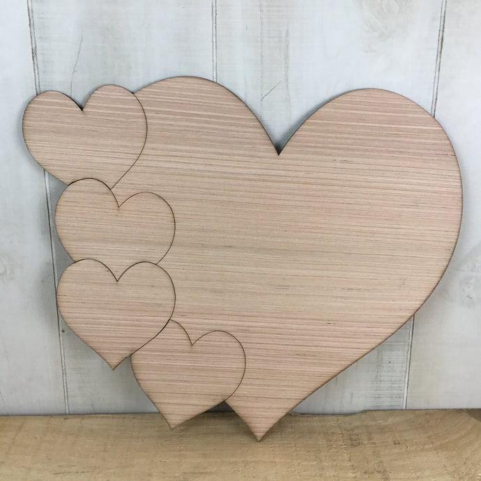 Lots of Hearts Door Hanger Blank - Local Pickup