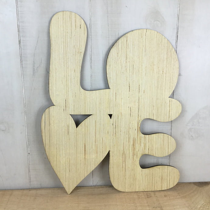 L -O-V-E With Heart Door Hanger Blank - Local Pickup