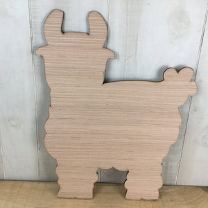 Llama Door Hanger Blank - Local Pickup