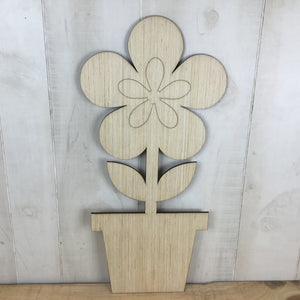 Flower In Pot Door Hanger Blank - Local Pickup