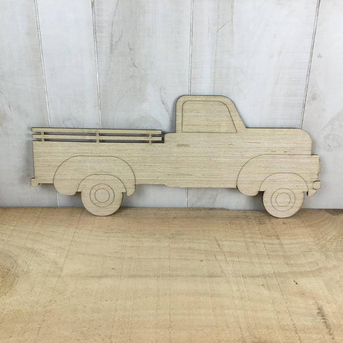 Pickup Truck - Stake Bed - Door Hanger Blank - Free Shipping