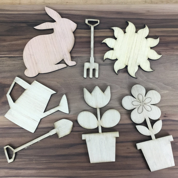 Garden Theme 6 piece Craft Kit - Free Shipping