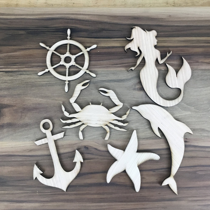Sea Life 6 Piece Craft Kit - Free Shipping