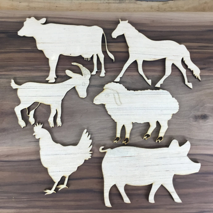 Barn Animals 6 Piece Craft Kit - Free Shipping
