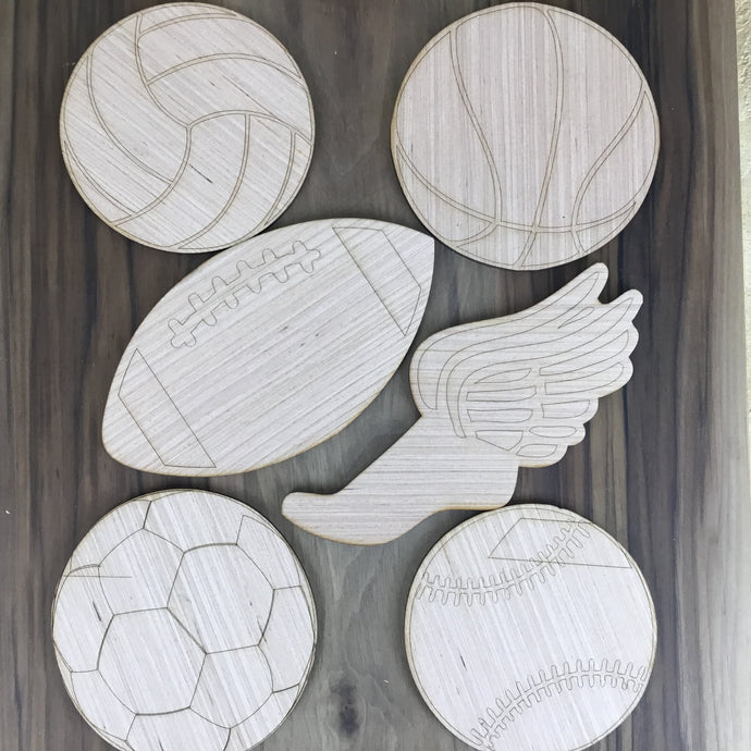 Sports 6 Piece Craft Kit - Free Shipping